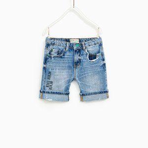 Zara Boys Denim Bermuda Shorts Size 13/14